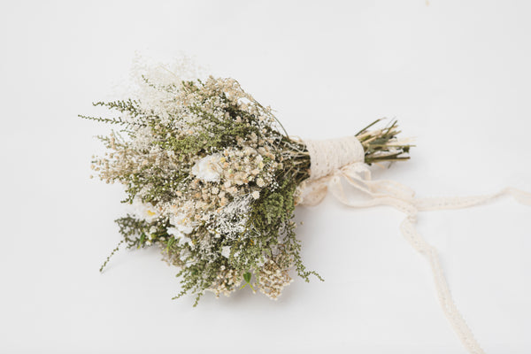 Natural bridal bouquet baby's breath Wedding bouquet 2021 Rustic bouquet Wedding accessories Magaela Handmade Barn wedding Dried flowers