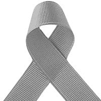 ribbon - 25mm grosgrain ribbon - Silver Grey - Fabridasher