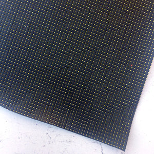 Print Faux Leather - 09 - Black - Grid - Print Faux Leather - Fabridasher