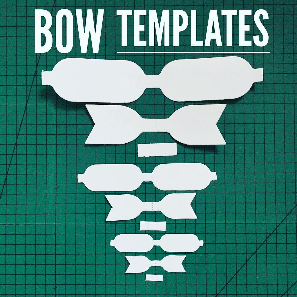 DIY kits - Hair bow template - plastic - bow template - 3 sizes per ...