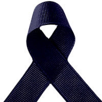 ribbon - 25mm grosgrain ribbon - navy - Fabridasher
