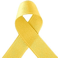 ribbon - 25mm grosgrain ribbon - Daffodil Yellow - Fabridasher