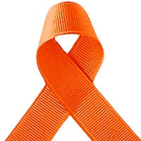 ribbon - 25mm grosgrain ribbon - Orange - Fabridasher