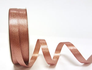 ribbon - 10mm sparkle satin ribbon - rose gold - Fabridasher