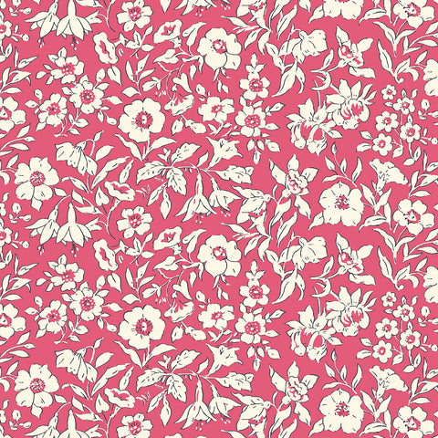 Liberty Fabrics - The Cottage Garden - Morning Dew Red