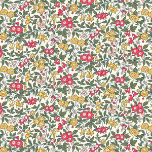 Liberty Fabrics - The Cottage Garden - Forget Me Not Red