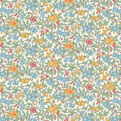 Liberty Fabrics - The Cottage Garden - Forget Me Not Yellow