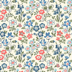 Liberty Fabrics - The Cottage Garden - Lawn Games Blue