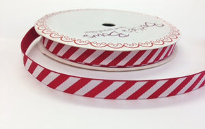 ribbon - Candy stripe 9mm red grosgrain ribbon - Fabridasher