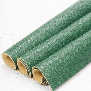 Textured Faux Leather - Leather - Evergreen - Fabridasher