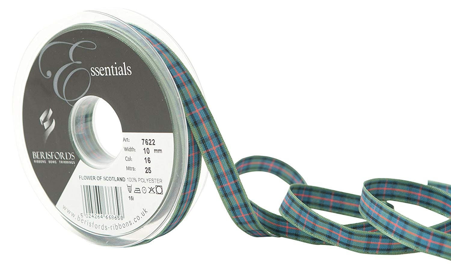 Woven Edge Flower of Scotland Tartan Ribbon