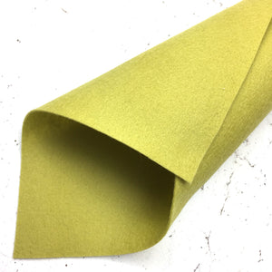 100% Wool Felt - Merino Wool Felt - 13 - yellow green - Fabridasher