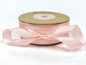 ribbon - 13mm 100% natural silk ribbon - pink - Fabridasher