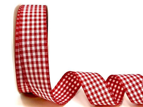 Red Gingham Plaid Ribbon