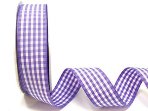 Lilac Gingham Plaid Ribbon