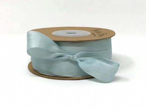 ribbon - 13mm 100% natural silk ribbon - sky blue - Fabridasher