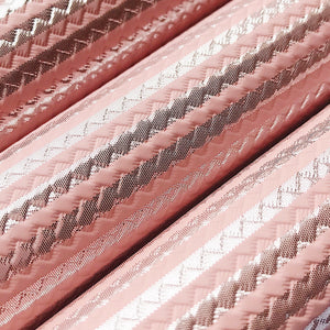 Embossed leather -  pink silver stripe