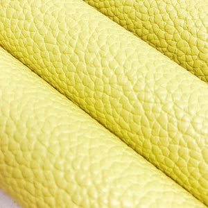Textured Faux Leather - Leather - Custard - Fabridasher