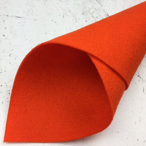 100% Wool Felt - Merino Wool Felt - 06 - Orange Red - Fabridasher