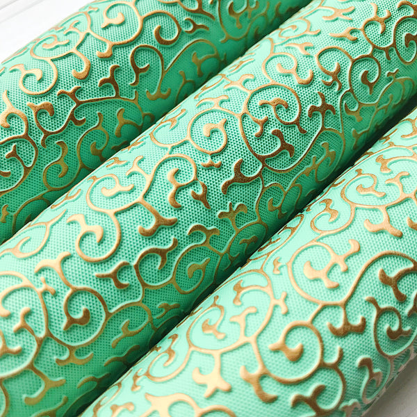 Embossed Leather - Mint