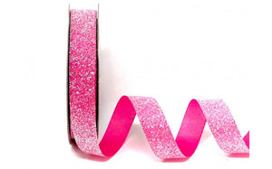 ribbon - 15mm Crystal Glitter - Pink - Fabridasher
