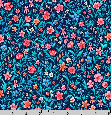 Robert Kaufman - London Calling 8 - Cotton Lawn - Navy
