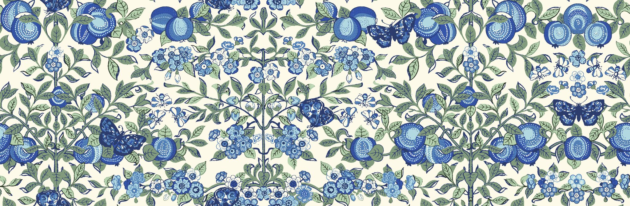 Liberty Fabrics - Orchard Garden - Orchard - Blue