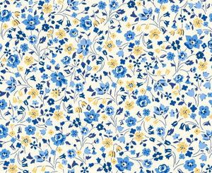 Liberty Fabrics - Orchard Garden - Kimberley and Sarah - Blue