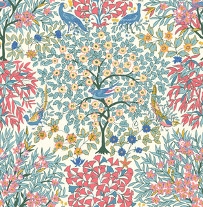 Liberty Fabrics - Orchard Garden - Pheasant Forest - Red