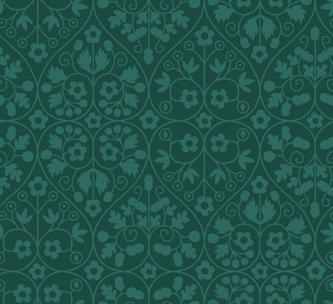Liberty Fabrics - Orchard Garden - Gated Shadow - Green