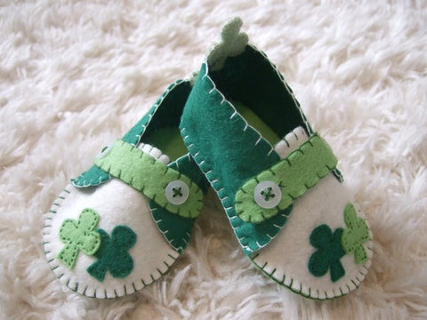 st patricks baby shoes