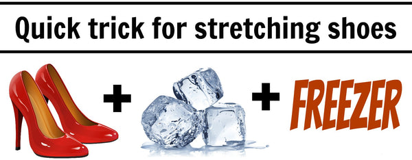 stretch shoes with ice