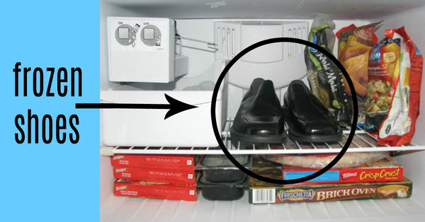 shoes in the freezer