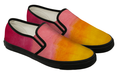 sunset ombre hand painted loafers - shoe sprinkles