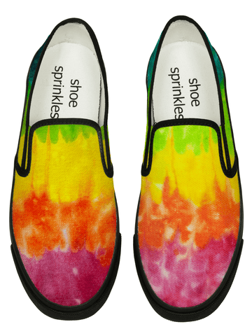 Tie dye hand painted canvas loafers - shoe sprinkles