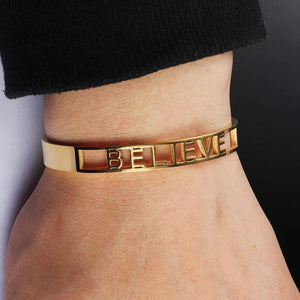 """Believe"" Bangle Bracelet"