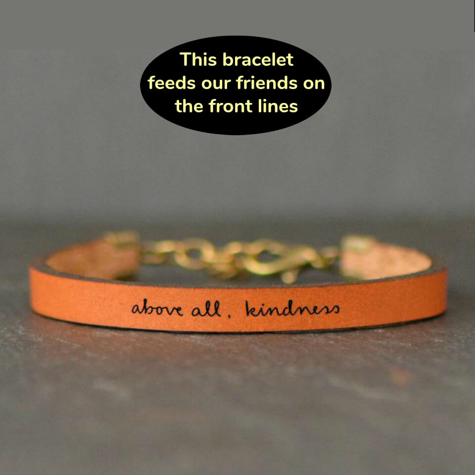 Leather Kindness Bracelet