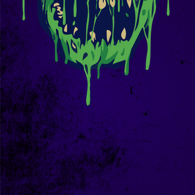 Green Skull Dripping