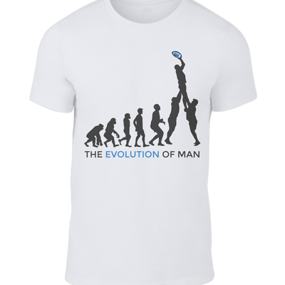 The Evolution of Man Scottish Rugby T-shirt