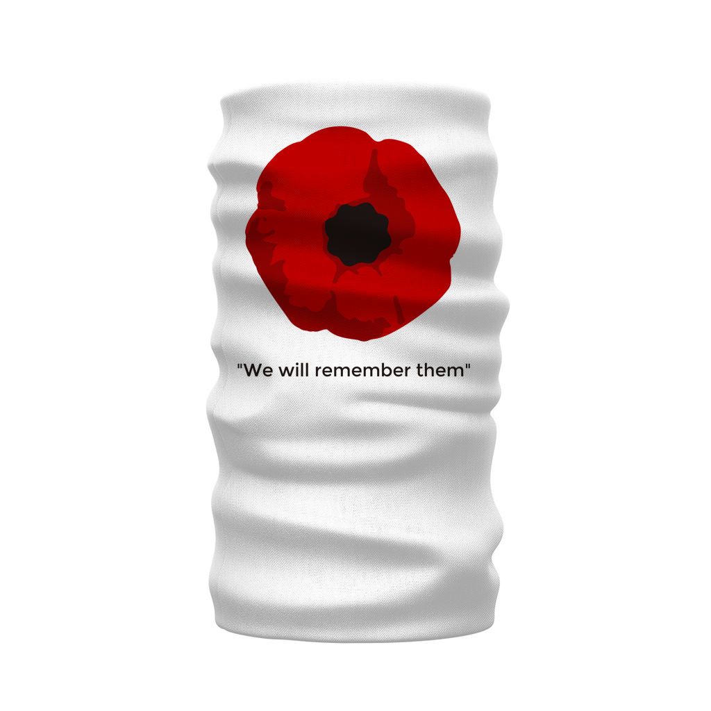 We will Remember White Neck Gaiter/Snood/Warmer