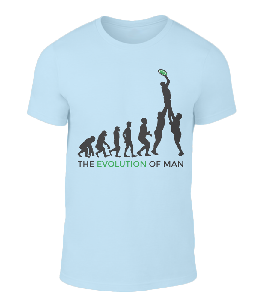 The Evolution of Man Irish Rugby T-shirt