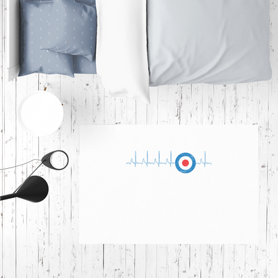 Limited Edition Mods Heartbeat Sublimation Mat