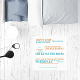 Limited Edition Lyrics Sublimation Mat