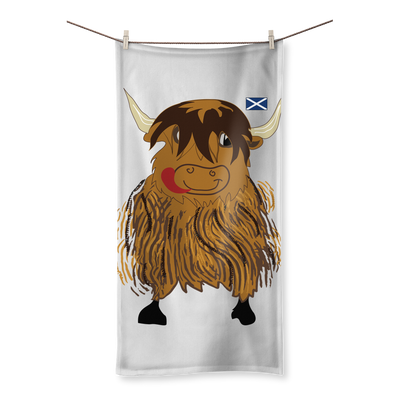 Hairy Coo Kids Sublimation All Over Towel