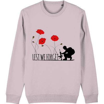 Lest we forget Poppy Organic Sweatshirt