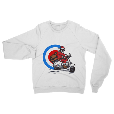 Mod Santa Giving Presents Classic Adult Sweatshirt