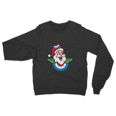 Mod Santa with Holly Classic Adult Sweatshirt