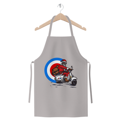 Mod Santa Giving Presents Premium Jersey Apron