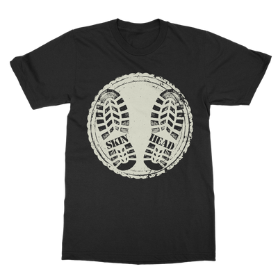 Skin Head Boot Print T-Shirt