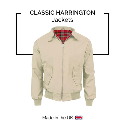 Men's Classic Harrington Jackets - Made in UK